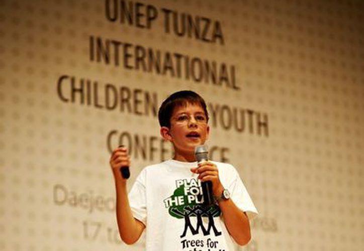 """Félix Finkbeiner, es el fundador de la organización """"Plant For The Planet"""". (Claudia Martín/SIPSE)"""