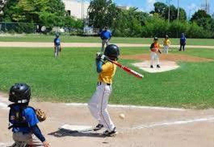 En esta categoría todo lo que utilizan los niños es especial, como el bat, las pelotas, los guantes y el número de entradas jugadas. (Alberto Aguilar/SIPSE)