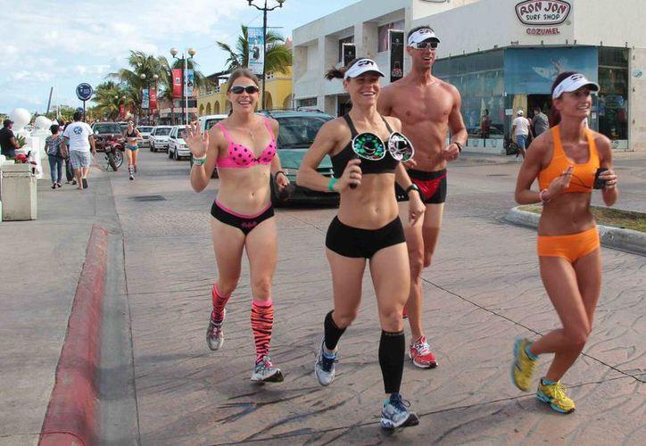 La carrera Panties y Piyamas Cozumel 2014 busca inscribir a 250 competidores. El evento se llevará a cabo el próximo viernes a las 18 horas. (Gustavo Villegas/SIPSE)