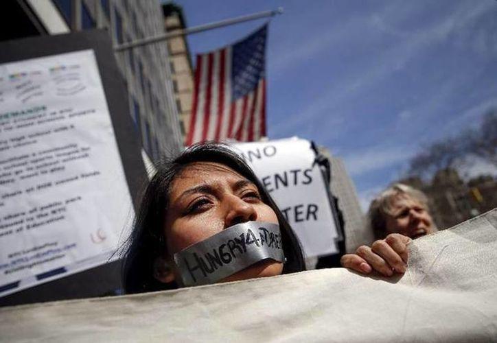 Los jóvenes en ayuno se encuentran distribuidos en todo Nueva York. (Reuters)
