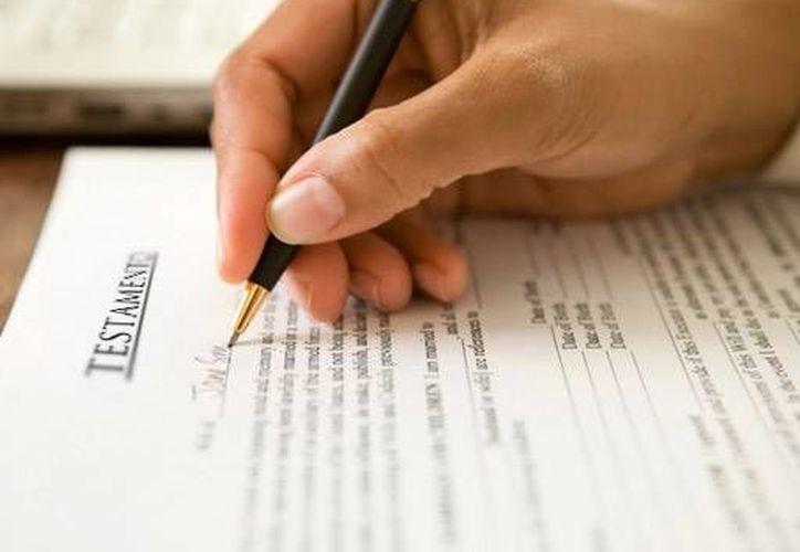 Durante septiembre hace el testamento cuesta la mitad del precio. (www.zonacentronoticias.com)