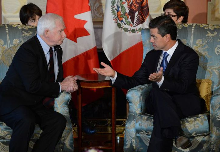 El gobernador general de Canadá, David Johnston y El presidente electo Enrique Peña. (Agencias)