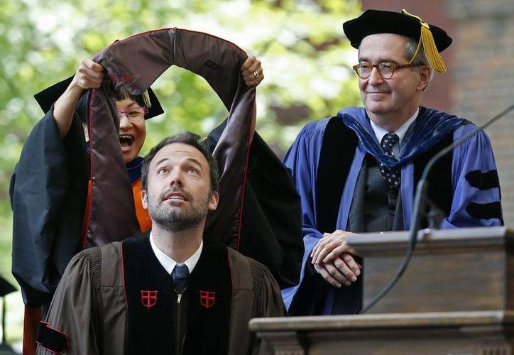 Ben Affleck durante la distinción en artes. (Agencias)
