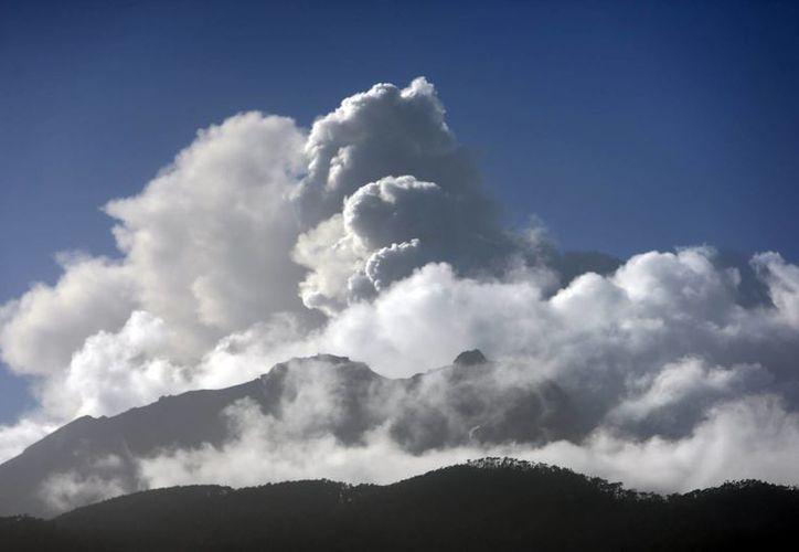Hasta ahora una turgente pluma de cenizas se puede observar desde lejos del volcán Chillán, la que ha sido calificada por los expertos de Sernageomin como un 'breve pulso de ceniza'. (EFE/Archivo)