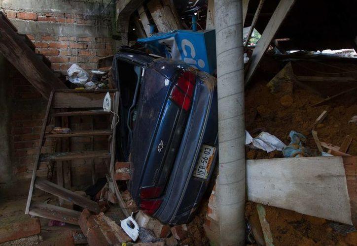 Impresionantes afectaciones en una vivienda de La Pintada, Guerrero. (Notimex)