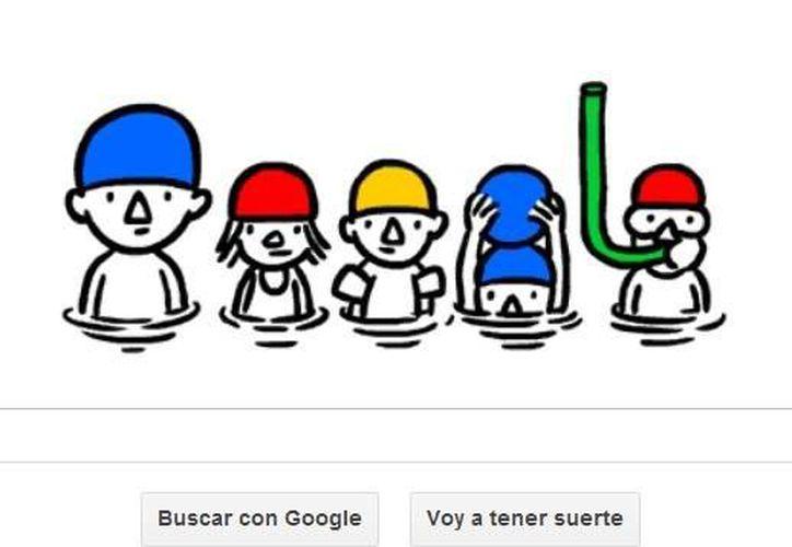 Google destaca el inicio del verano con un doodle del diseñador alemán Christoph Niemann.