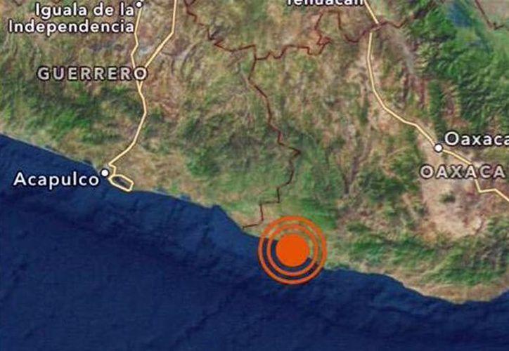 El temblor de magnitud 5 en la escala de Richter sacudió la mañana de este jueves al estado de Oaxaca. (@SkyAlertMx)