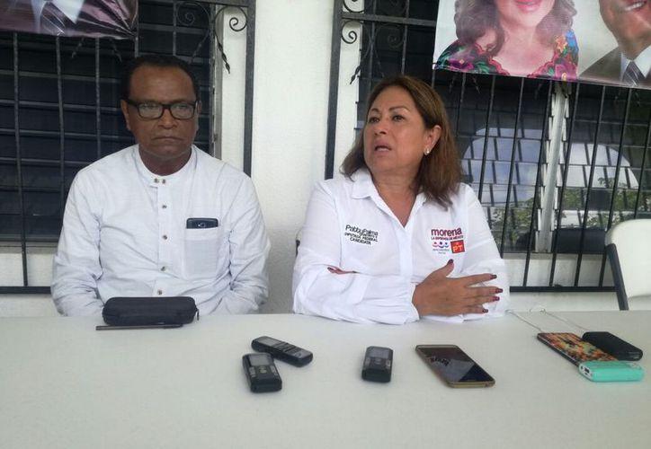 En conferencia de prensa, reconoció que como candidata, pende de un hilo, porque no ha podido comprobar sus gastos. (Joel Zamora/SIPSE)