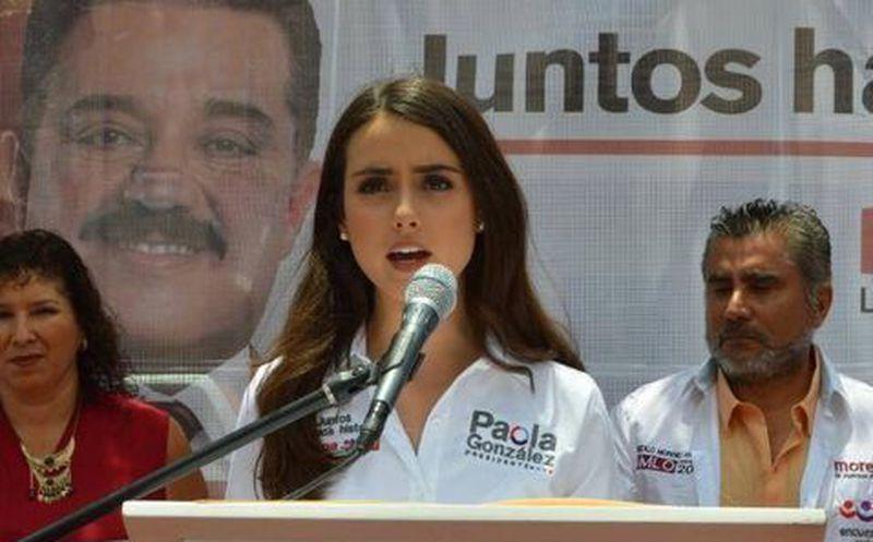 Paola González candidata de Morena en Tepetitlan para alcalde. (Foto: SIPSE)