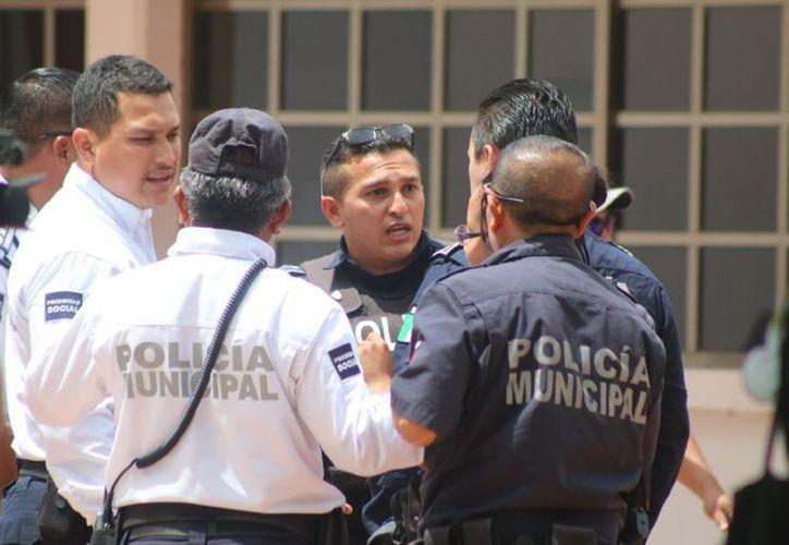 Policías municipales pidieron la destitución de Yahaira Jiménez, coordinadora del Instituto de Formación Profesional. (Foto: SIPSE)