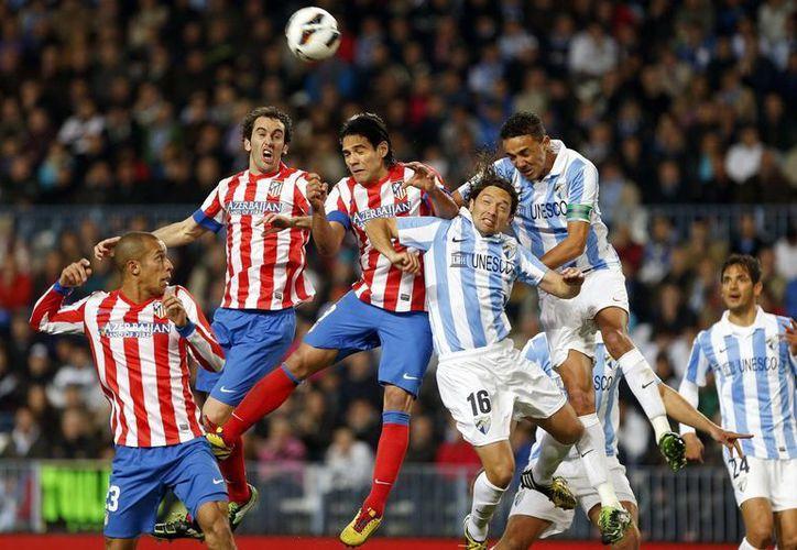 El Atlético de Madrid no pudo con el Málaga. (EFE)