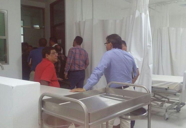 Trabajadores del sector salud realizaron un recorrido en las instalaciones del nosocomio. (Rubi Velazquez/SIPSE)