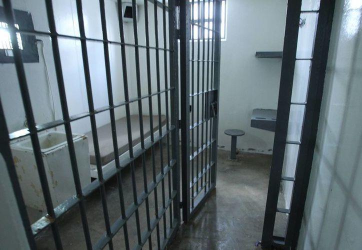 Vista general de la celda número 20 desde donde escapó el pasado sábado Joaquín 'El Chapo' Guzmán Loera del reclusorio de máxima seguridad Altiplano I en México. (EFE)