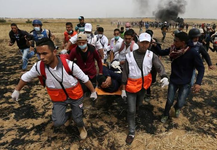 Las manifestaciones iniciadas el pasado 30 de marzo reivindican el derecho de los refugiados palestinos. (Reuters)