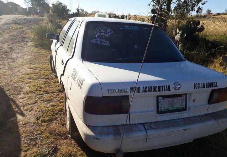 El vehículo en el  que se llevaron a la niña fue hallado abandonado. (Foto: Excélsior)