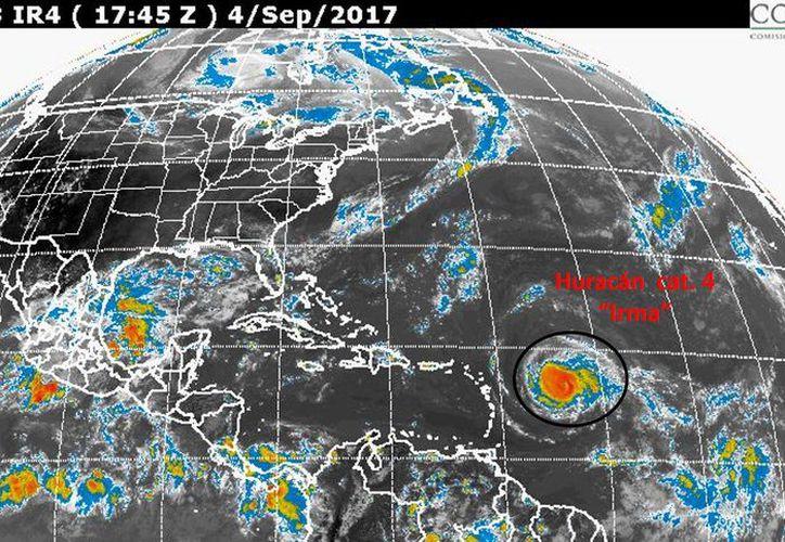 Irma tiene vientos de hasta 200 kilómetros por hora. (Conagua).
