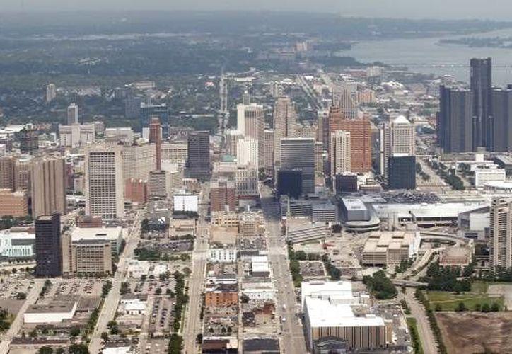 Foto aérea del 17 de julio del 2013 de la ciudad de Detroit. El viernes, 7 de noviembre del 2014, el juez Steven Rhodes dio luz verde a un plan del ayuntamiento para salir de la bancarrota. (Foto AP/Paul Sancya)