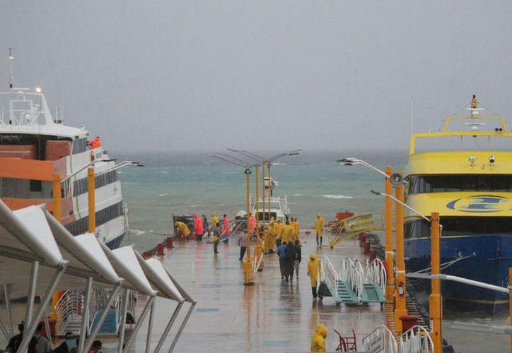 Inclemencia del tiempo provoca que embarcación esté cerrada hasta nuevo aviso. (Foto: Daniel Pacheco/SIPSE).