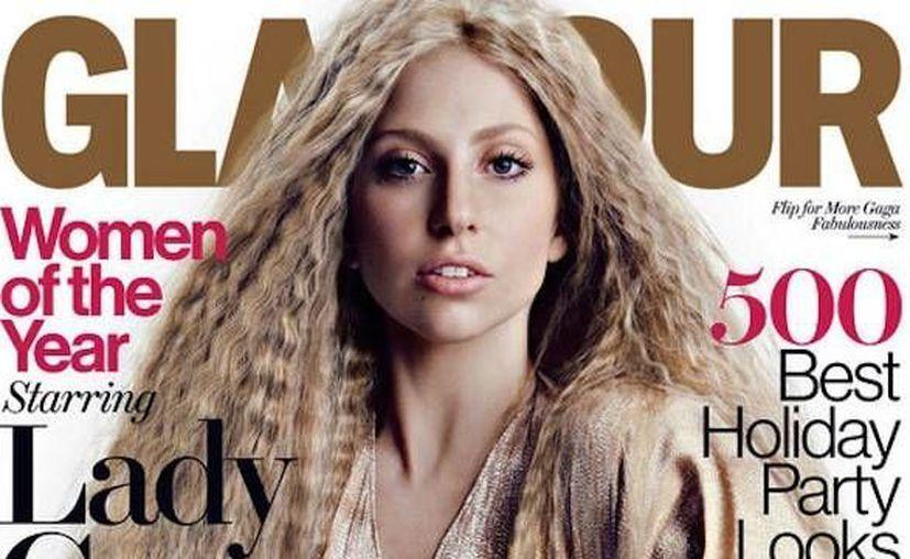Lady Gaga en la portada de Glamour. (Agencias)