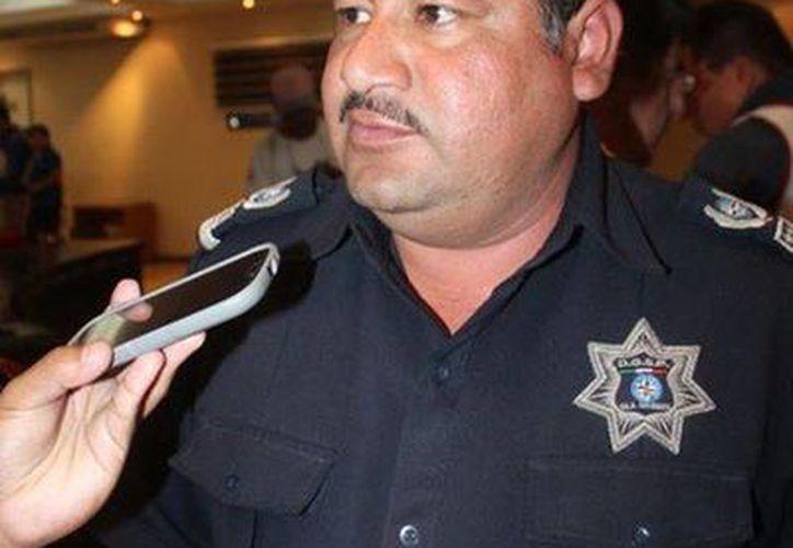 El director de Seguridad Pública y Tránsito, Joaquín Poot Acosta. (Redacción/SIPSE)