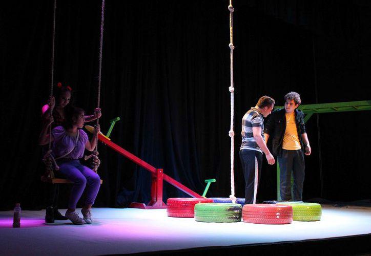 """Entre las presentaciones está la obra """"La flor amenazada"""", en el teatro 8 de Octubre. (Faride Cetina/SIPSE)"""