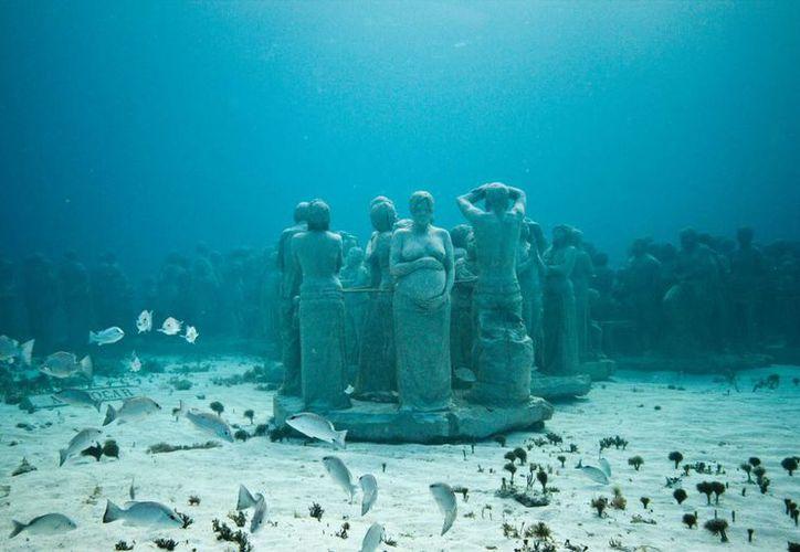 Museo Subacuático de Arte es un atractivo turístico de este destino. (Israel Leal/SIPSE)