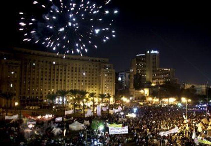 Plaza Tahrir, en Egipto, de donde grandes cantidades de cristianos han partido en respuesta a una oleada de discriminación y opresión. (Agencias)