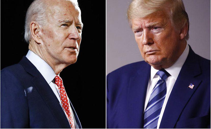 Joe Biden y Donald Trump. (AP Photo, File)