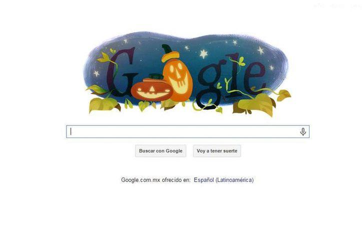 Uno de los doodles de Google muestra a las clásicas calabazas sonrientes. (google.com)