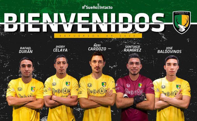 Juventud y experiencia, mezcladas en los nuevos integrantes de los Venados FC. (facebook.com/VenadosFCYucatan)