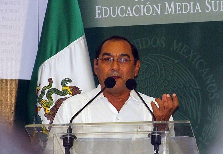 Raúl Godoy Montañez indicó que la prueba se aplicó en 234 escuelas. (Milenio Novedades)