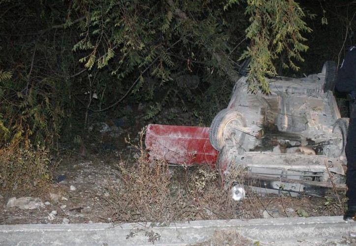 El accidente se registró la noche del lunes en el Arco Vial. (Redacción/SIPSE)
