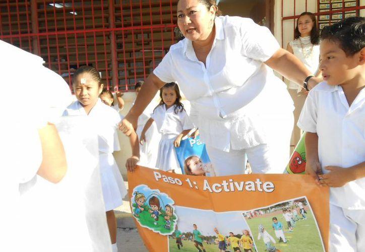 Aprenden pequeños la importancia de la activación física. (Milenio Novedades)