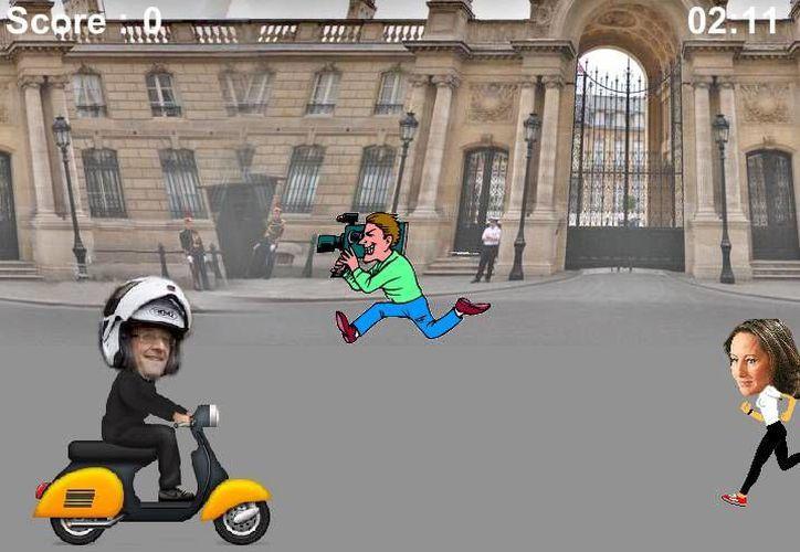Ayude al presidente de Francia con el nuevo juego en linea a reunirse con la actriz Julie Gayet. (jeu-hollande.com)