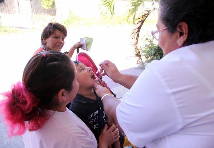 Ayer inició en Yucatán la aplicación de dosis a los menores. (Milenio Novedades)