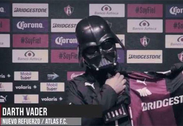 Darth Vader fue presentado como nuevo refuerzo de Atlas en el marco del Día Mundial de Star Wars. (espndeportes.com)