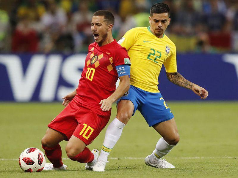 El belga Eden Hazard rechazó jugar para Francia pero hoy está en semifinales de un Mundial con la camiseta de Bélgica (Foto AP)