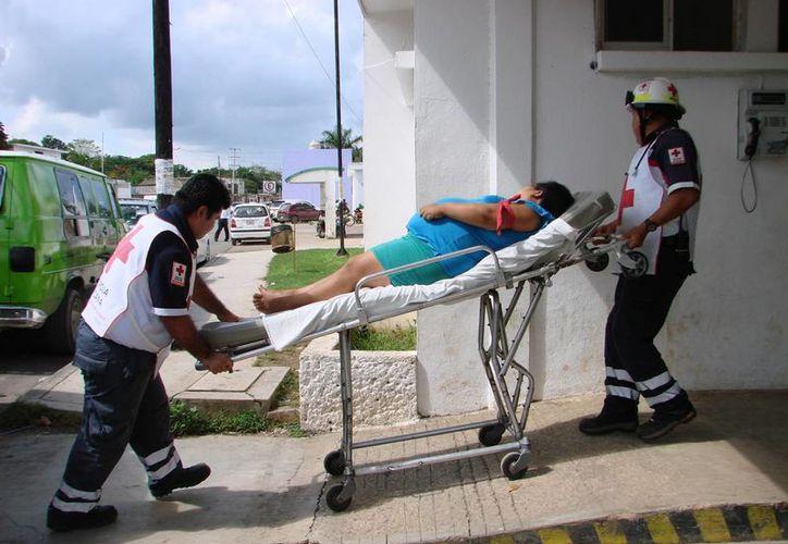 El estado de salud de la mujer fue reportado como delicado. (Manuel Salazar/SIPSE)