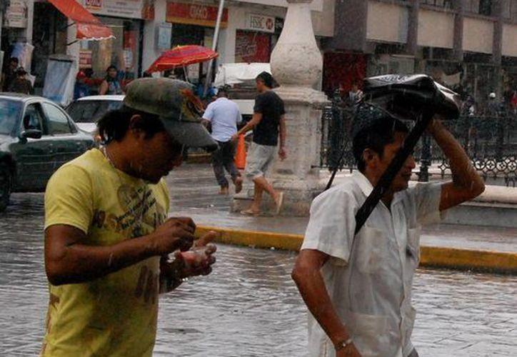 Aunque no con la intensidad de la del domingo, ayer cayeron lluvias en Mérida. (Wilberth Argüelles/SIPSE)