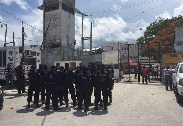 Al lugar llegaron elementos de la Policía Municipal. (Sergio Orozco/SIPSE)