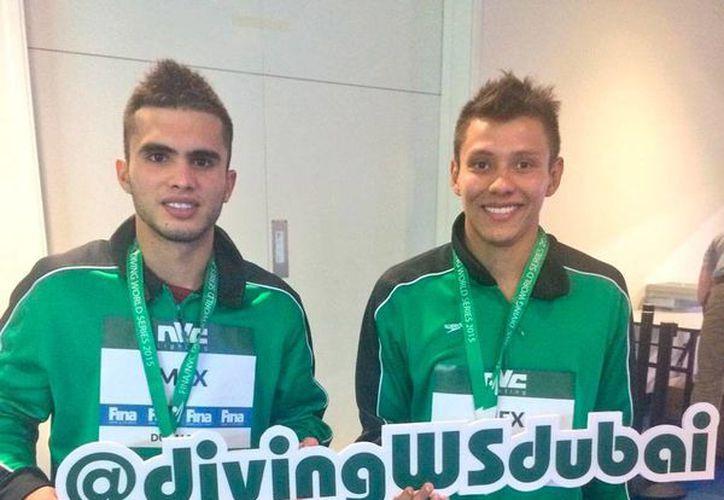 Iván García y Germán Sánchez obtuvieron medalla de plata en Serie Mundial de Clavados FINA  2015. (Twitter @ivangarciapollo)
