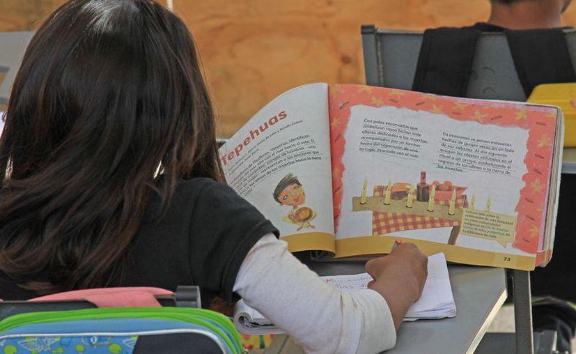 Se prevé que sea hasta finales de septiembre cuando los alumnos ya puedan estudiar en compañía de los libros. (Foto: Jesús Tijerina/SIPSE).