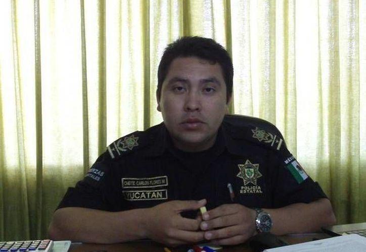 El jefe policiaco Carlos Flores, anunció profesionalización de agentes. (SIPSE)