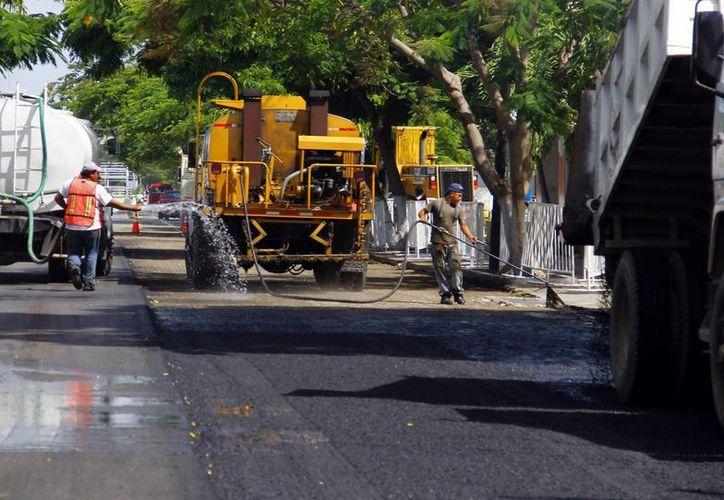 Las obras en Paseo de Montejo registran un buen avance. (Juan Albornoz/SIPSE)