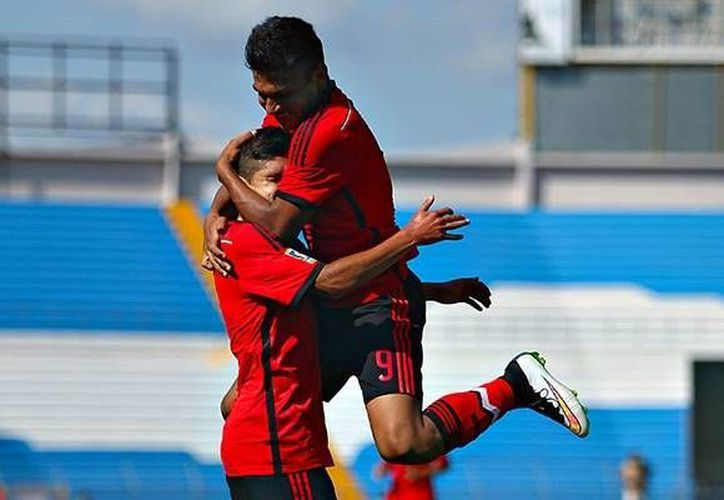 Pablo López, en el primer tiempo, y  Francisco Venegas, en el segundo, hicieron los goles de la Selección mexicana sub-17 contra Haití en partido premundialista que terminó 2-0. (miseleccion.mx/Foto de archivo)