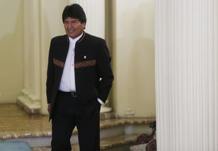 Evo Morales pidió a los autoridades judiciales bolivianas investigar el paradero del hijo que tuvo con Gabriela Zapata, acusada de tráfico de influencias. (AP)