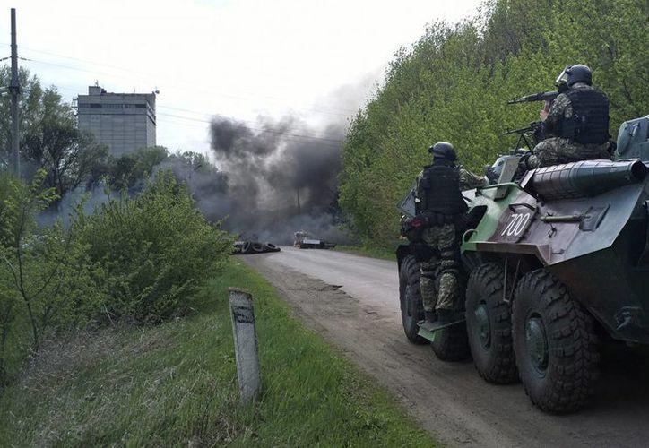 Tras el fracaso del acuerdo de Ginebra, el Ejército ucraniano pasa a la ofensiva. (AP)