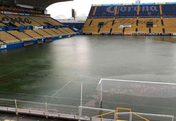 El estadio se ha visto afectado por las lluvias torrenciales. (Internet)