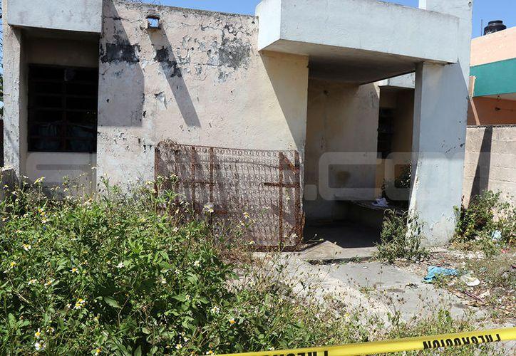 El domicilio en donde ocurrió el violento ataque fue asegurado. (SIPSE)