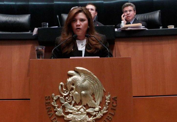 La Senadora yucateca indicó que para el próximo periodo de sesiones esperan dos 'iniciativas preferentes' con el objetivo de dinamizar la economía y tener leyes que generen bienestar colectivo. (Facebook)